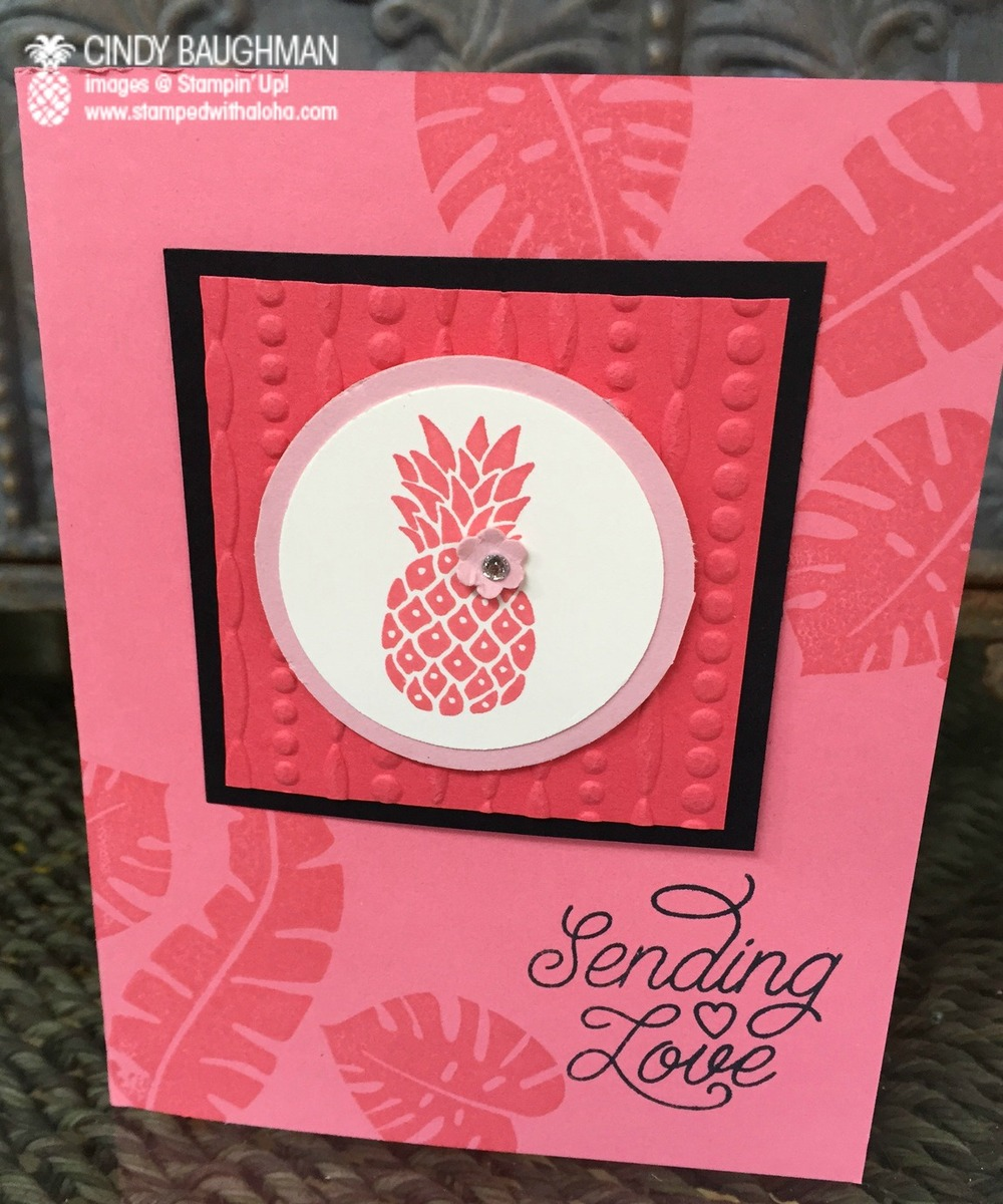 Pop Of Paradise Sending Aloha Card - www.stampedwithaloha.com