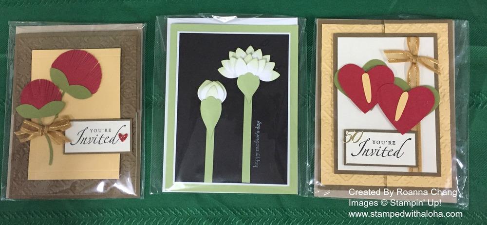 Roanna's Tropical Flower cards - www.stampedwithaloha.com