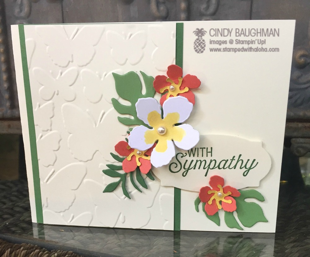 Botanicals Sympathy Card - www.stampedwithaloha.com