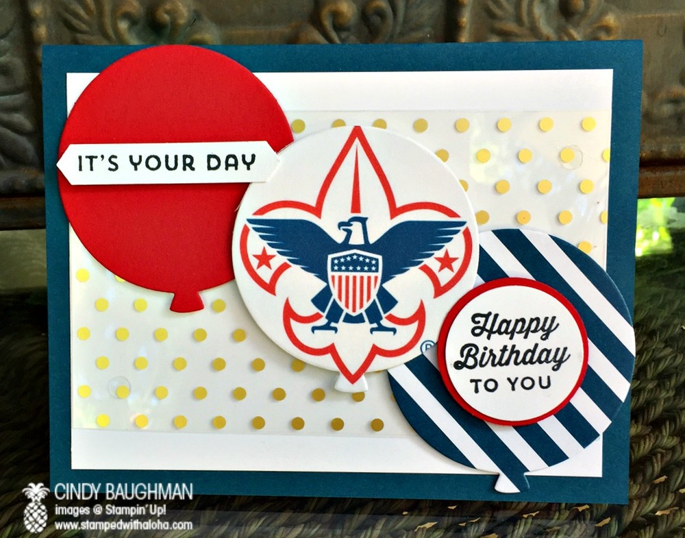 Eagle Scout Birthday Card - www.stampedwithaloha.com