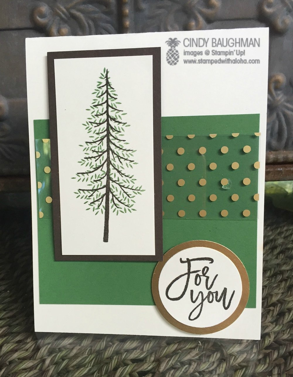 Thoughtful Branches Tree card - www.stampedwithaloha.com