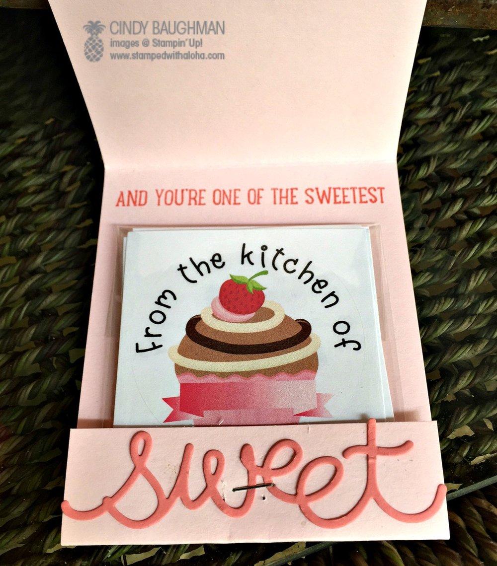 Sweet Cupcake Favor (inside) - www.stampedwithaloha.com