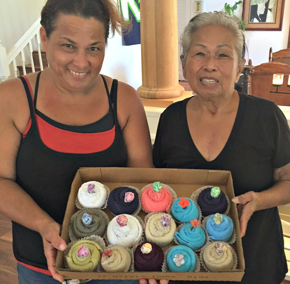 Suprise Washcloth Cupcakes for all - www.stampedwithaloha.com