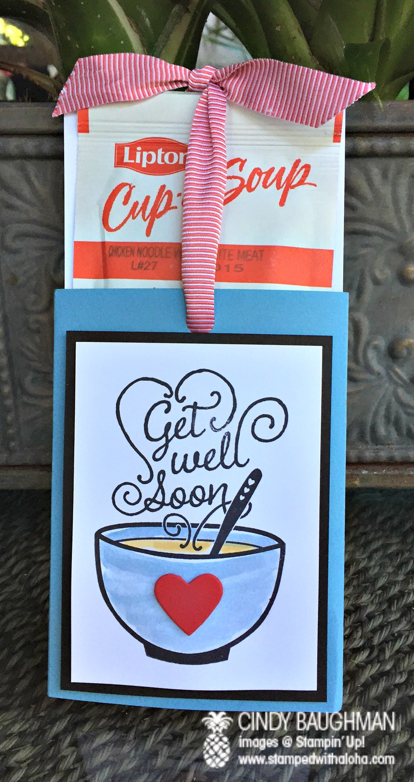 Get Well Soup Card - www.stampedwithaloha.com