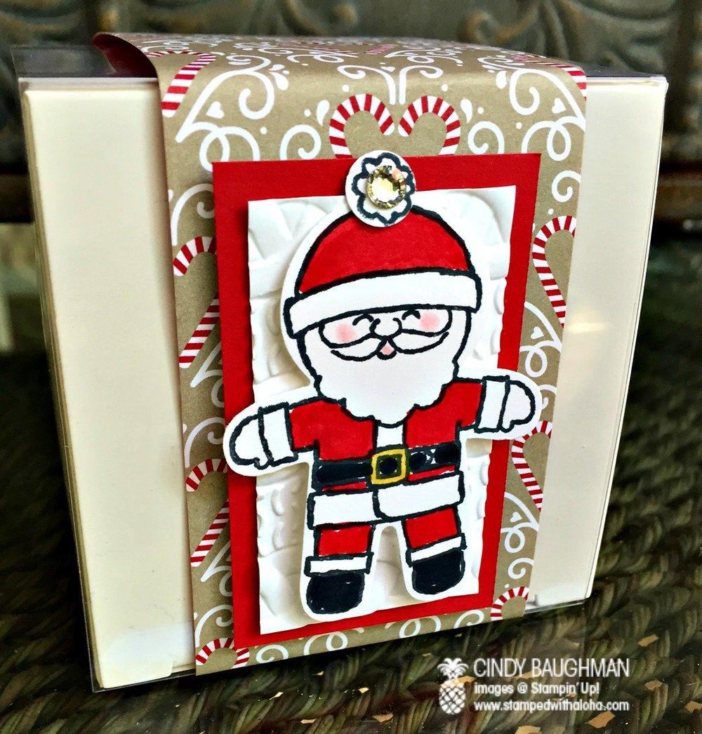 Happy Santa Candy Cane Box - www.stampedwithaloha.com