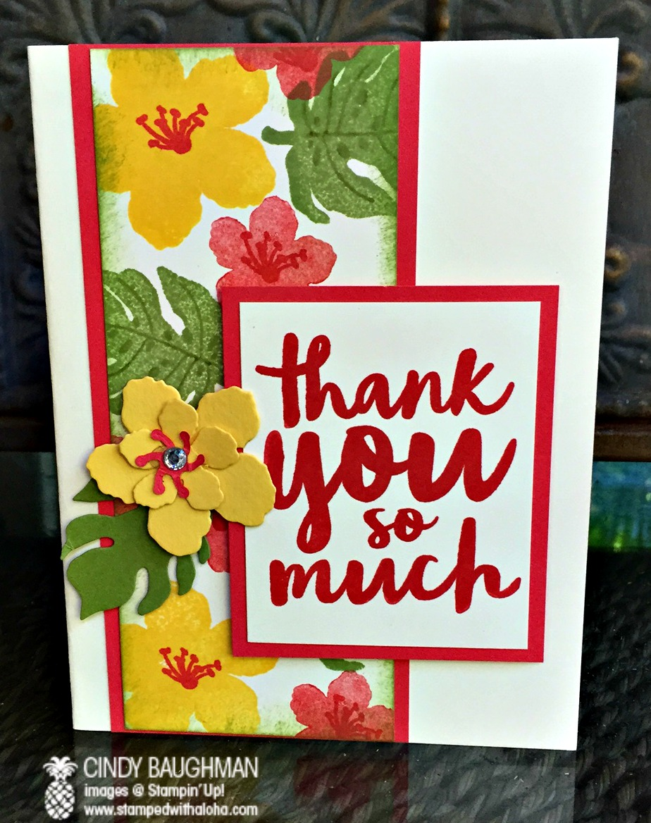 Botanical Gardens Thank You Card - www.stampedwithaloha.com