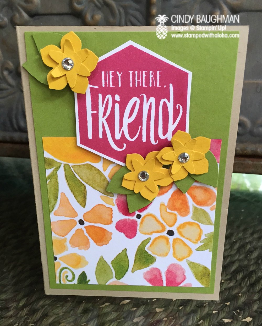 Scenic Sayings Friendship card - www.stampedwithaloha.com