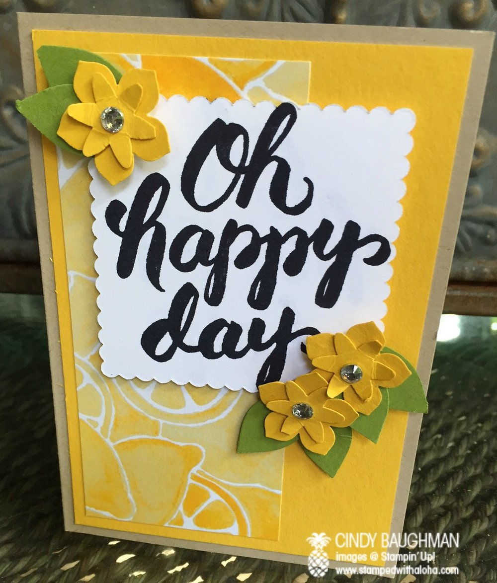 Scenic Sayings Happy Day card - www.stampedwithaloha.com