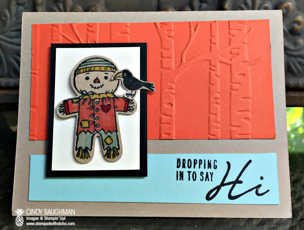 Cookie Cutter Halloween Card - www.stampedwithaloha.com