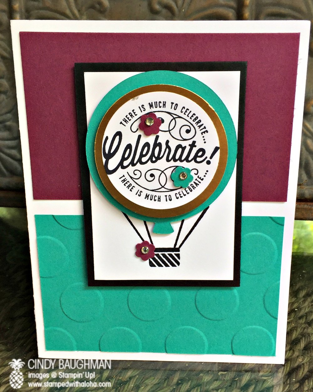 Here's To Cheer's Birthday Card - www.stampedwithaloha.com