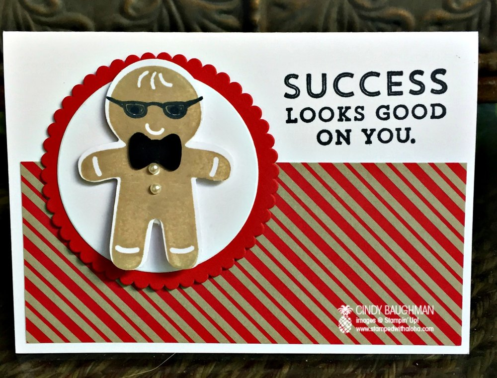 Cookie Cutter Congratulations Card - www.stampedwithaloha.com