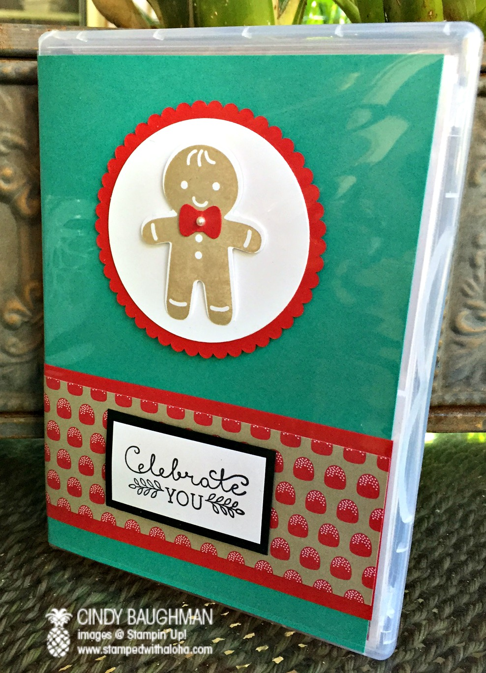 Cookie Cutter Christmas Card Case - www.stampedwithaloha.com