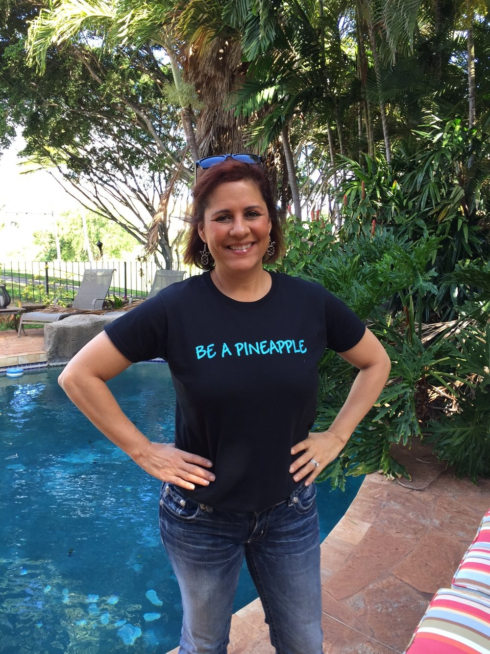 Be A Pineapple T-shirt (front) - www.stampedwithaloha.com