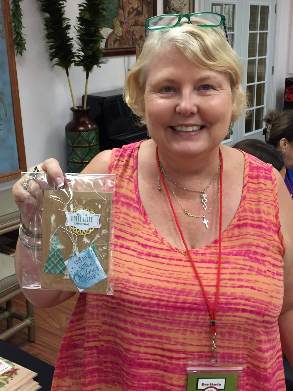 Eve and her prize - www.stampedwithaloha.com