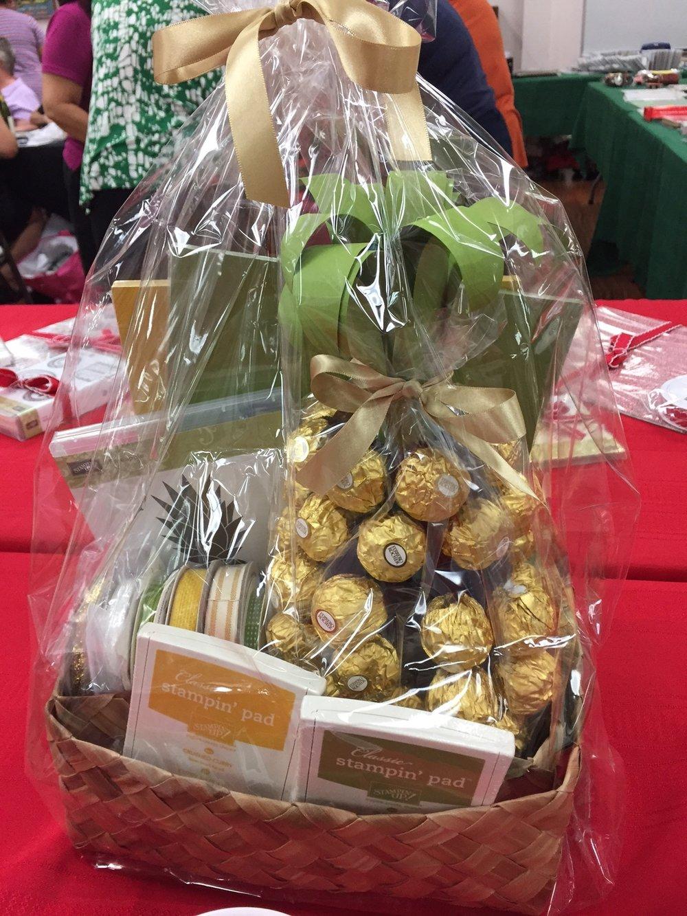 Cindy's Pineapple Prize Basket - www.stampedwithaloha.com