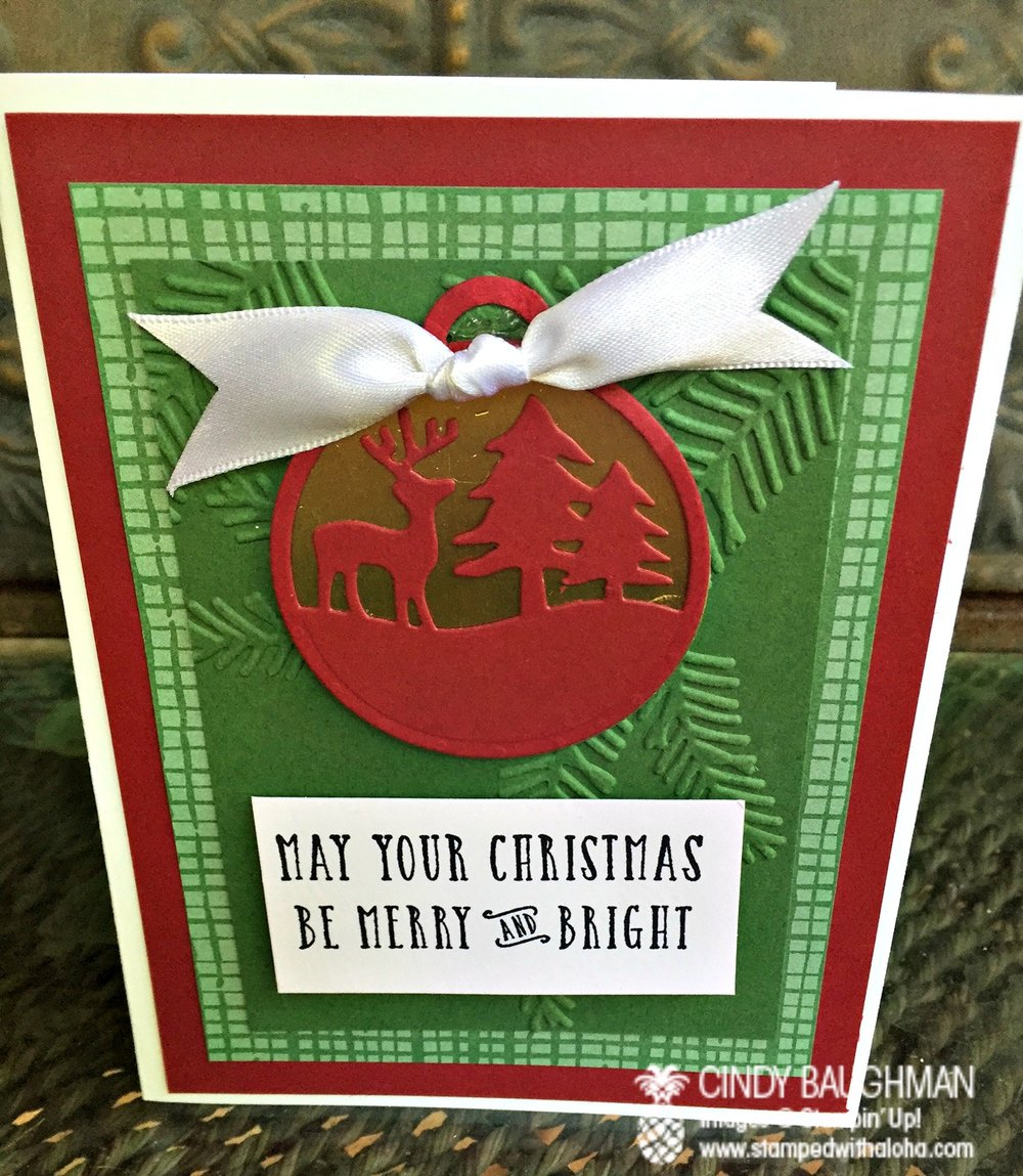 Merry Tag Christmas Card - www.stampedwithaloha.com