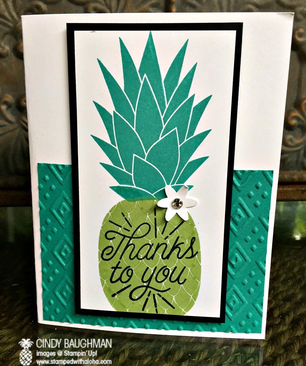 Pineapple Card - www.stampedwithaloha.com