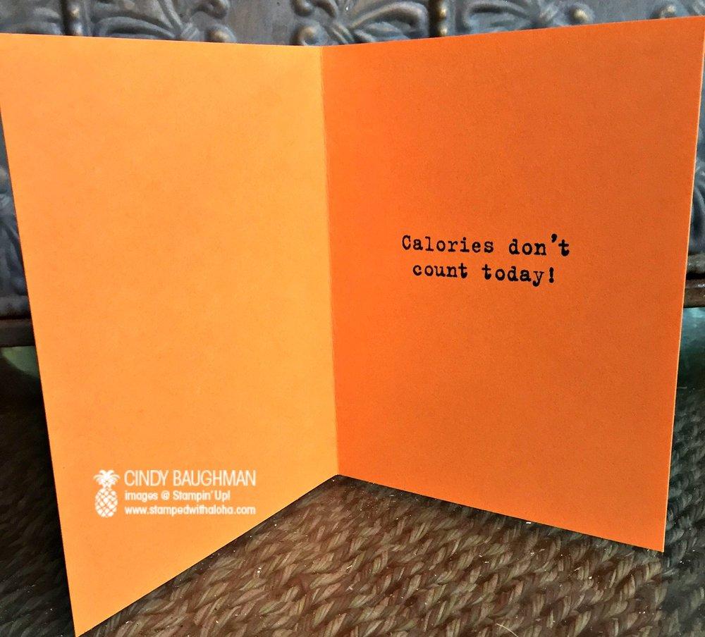 Pumpkin Pie Card (inside) - www.stampedwithaloha.com
