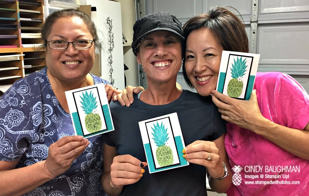Dene, Jennifer and Pam at stamp a stack - www.stampedwithaloha.com