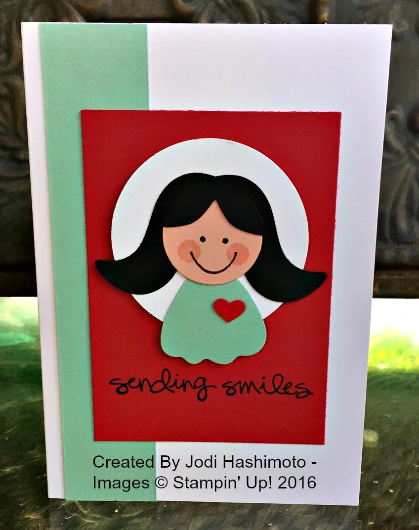 Jodi's Punch Art Card - www.stampedwithaloha.com