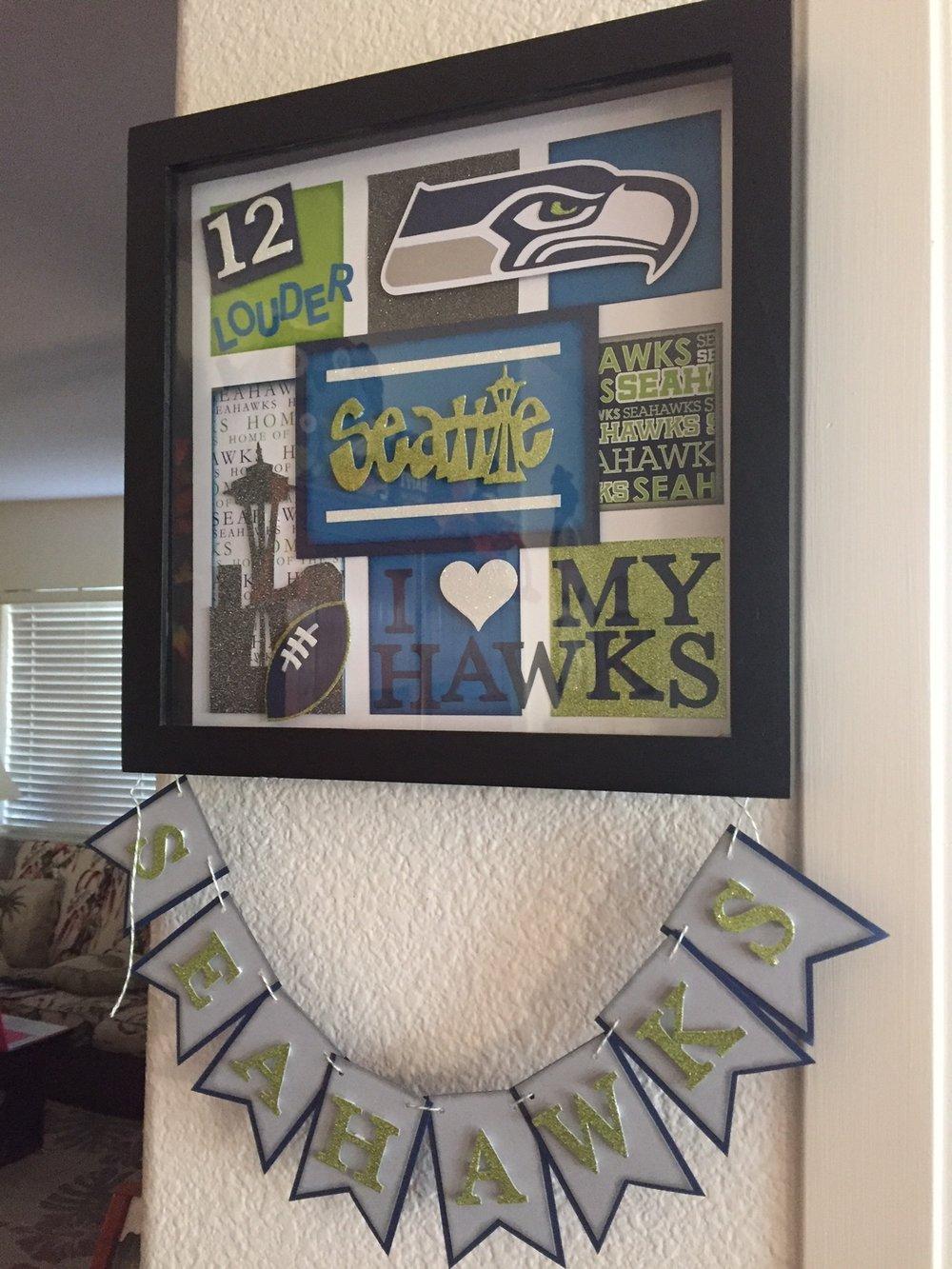 Seahawks gift from Jennifer - www.stampedwithaloha.com