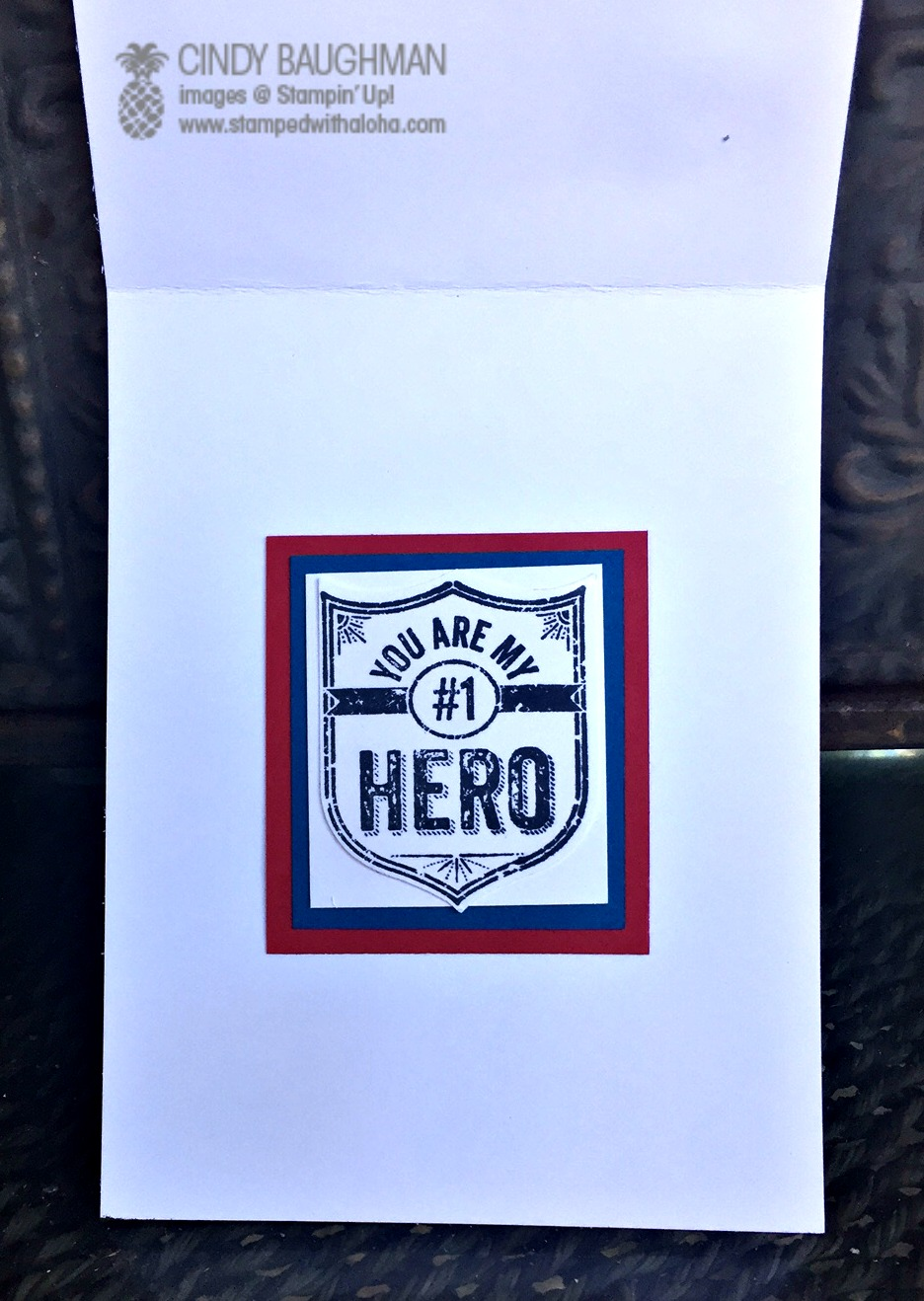 Captain America Card (inside)- www.stampedwithaloha.com