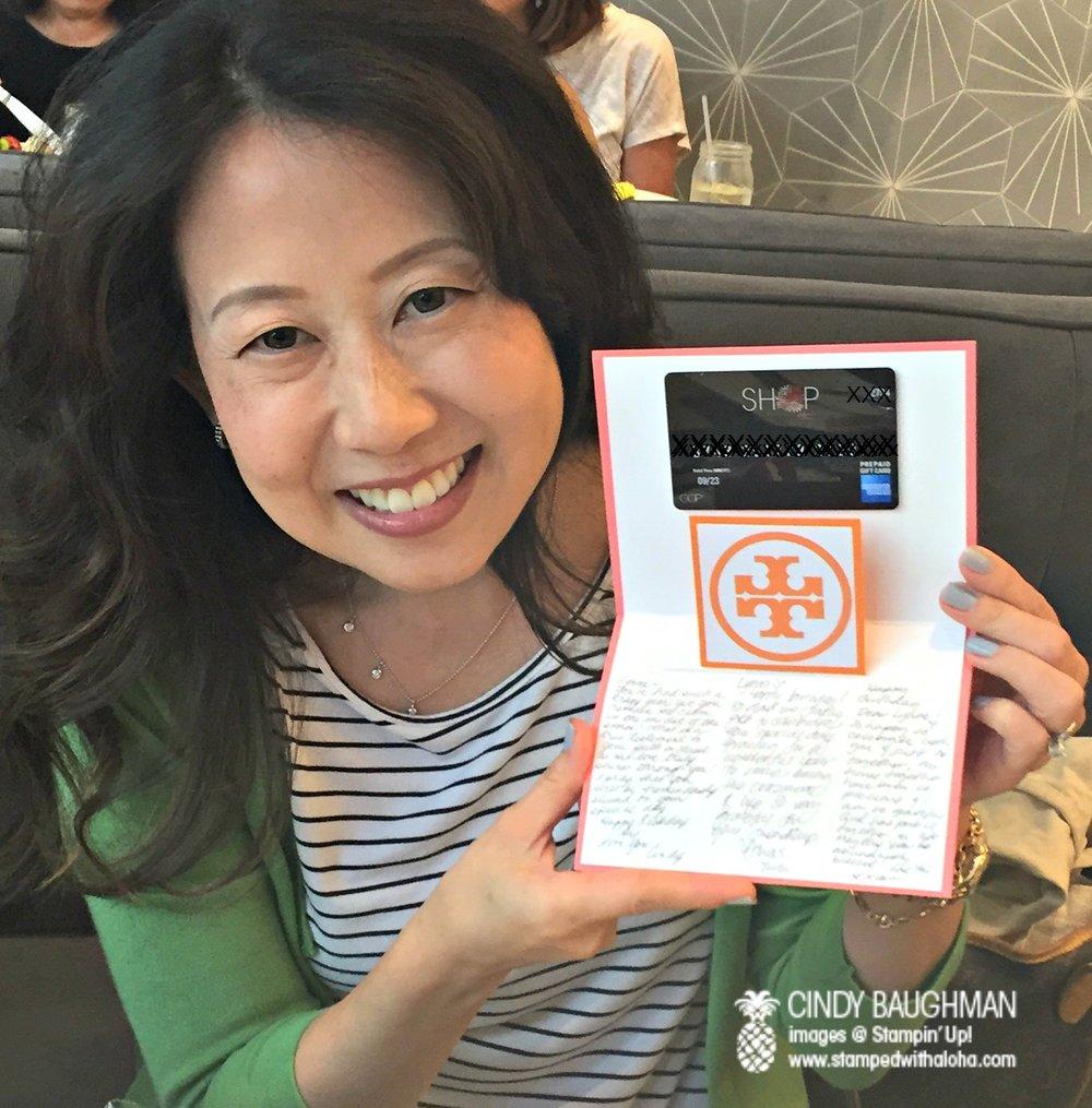 Lynne's special day - www.stampedwithaloha.com