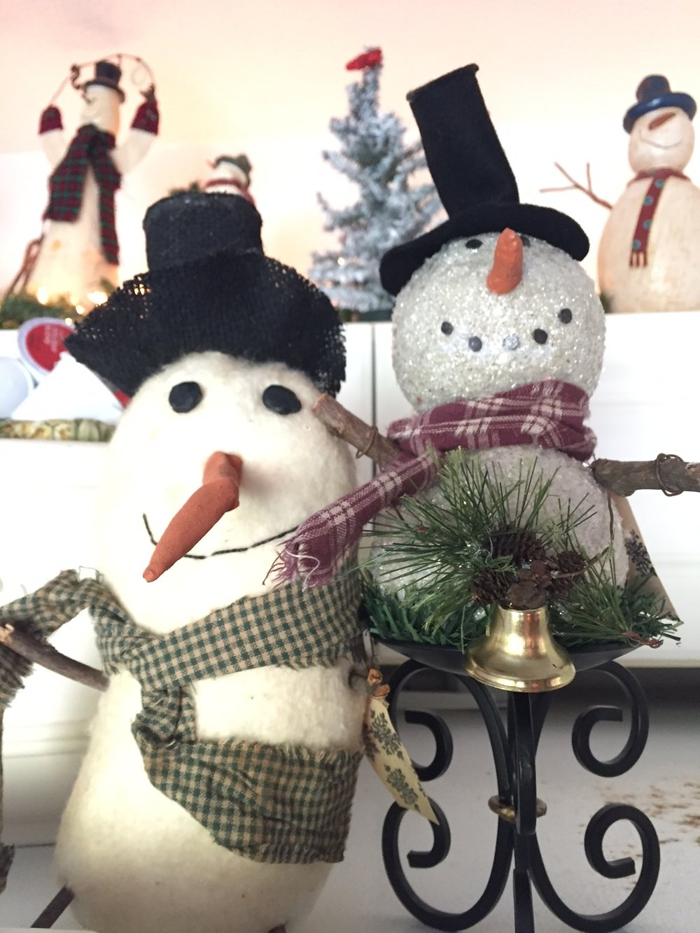 Unique Snowmen - www.stampedwithaloha.com