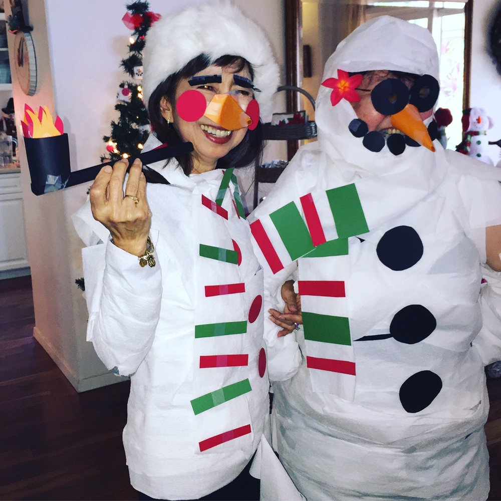 Zeny and Darleene are the cutest snowmen! - www.stampedwithaloha.com