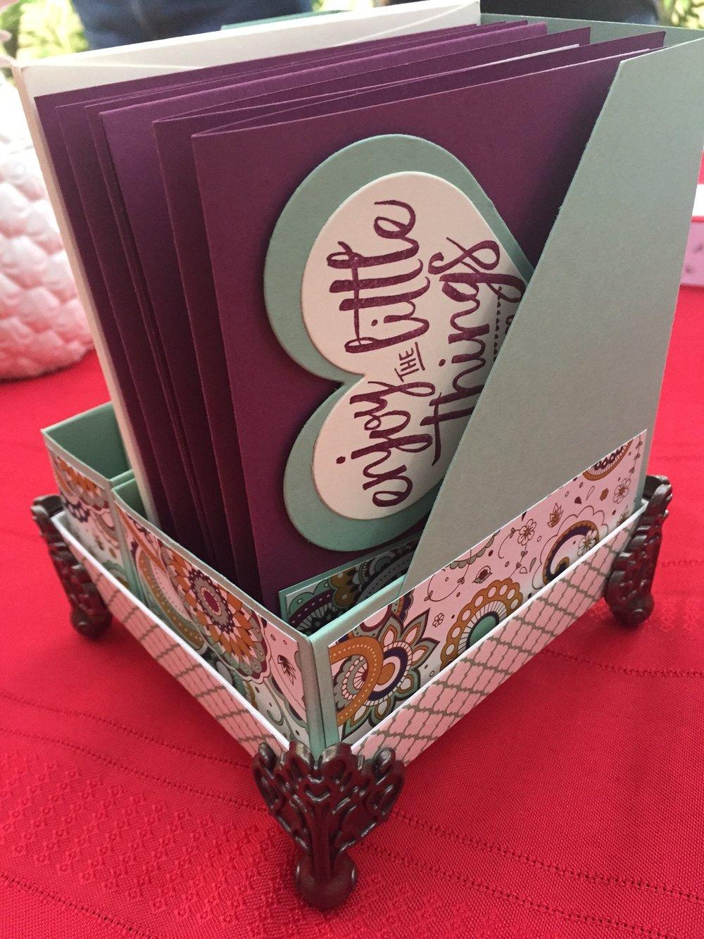 Fancy Card Box - www.stampedwithaloha.com