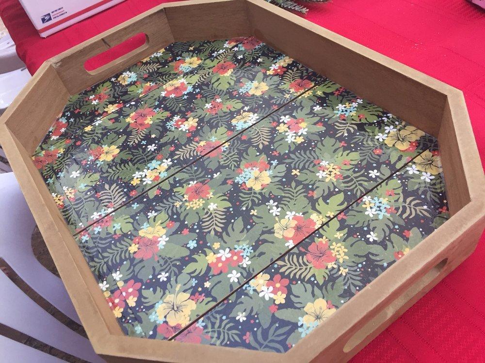 Tropical Tray - www.stampedwithaloha.com