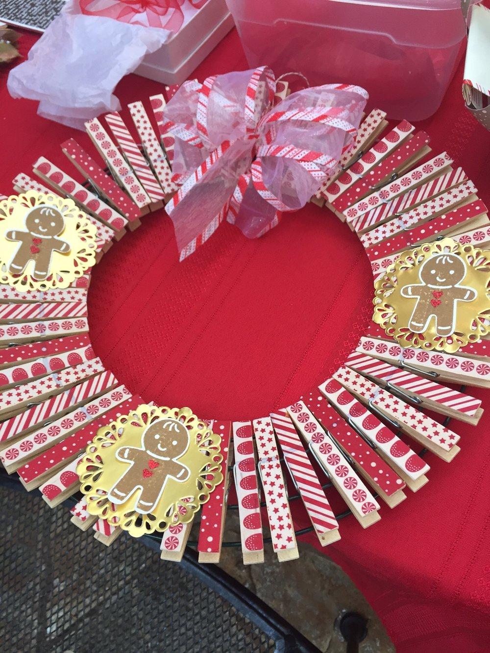 Washi Tape Wreath - www.stampedwithaloha.com