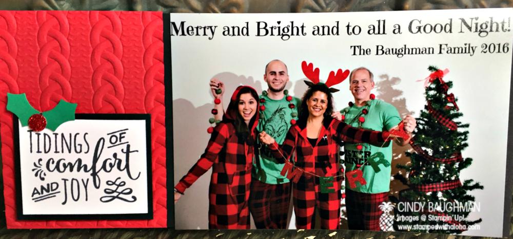 Baughman Family 2016 Christmas Card - www.stampedwithaloha.com