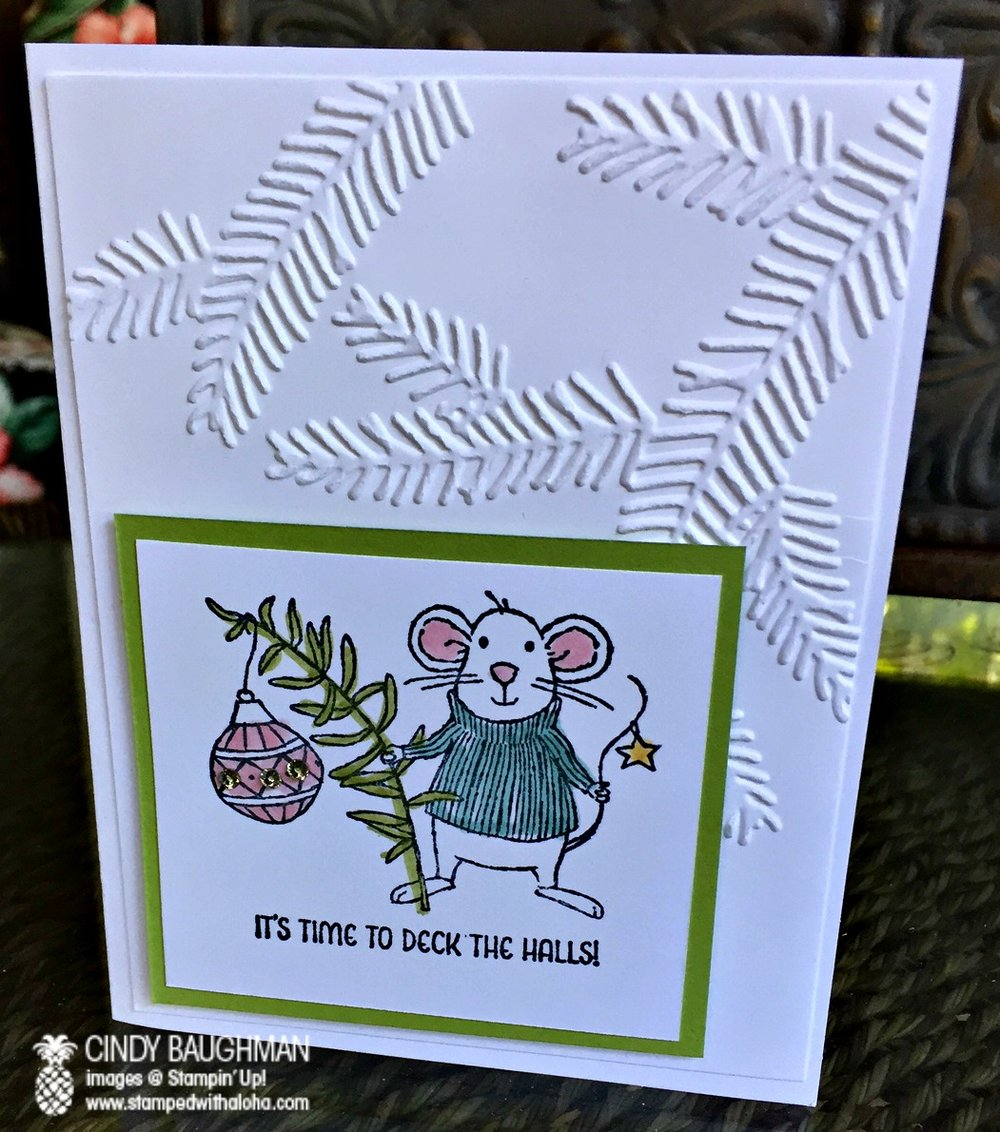 Merry Mice Card - www.stampedwithaloha.com