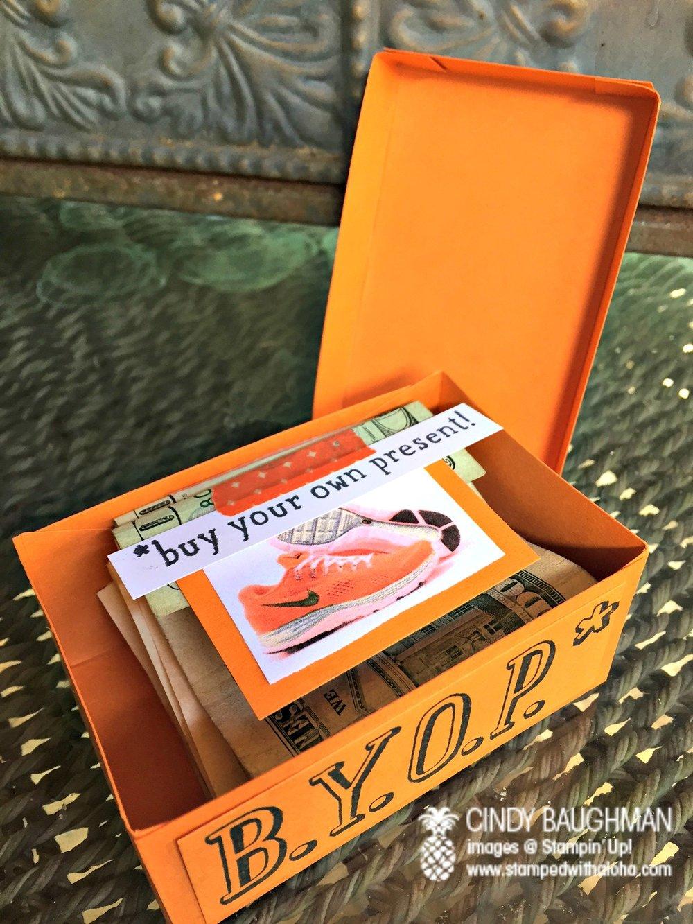 Shoe Box (inside) - www.stampedwithaloha.com