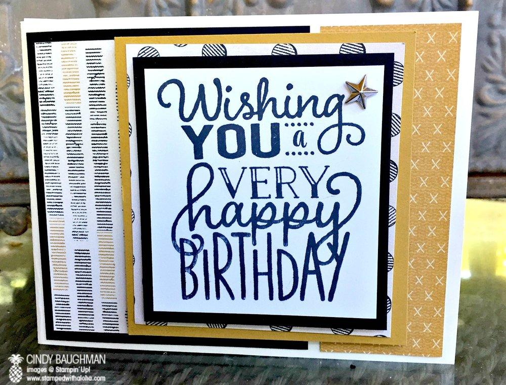 Urban Underground Birthday Card - www.stampedwithaloha.com