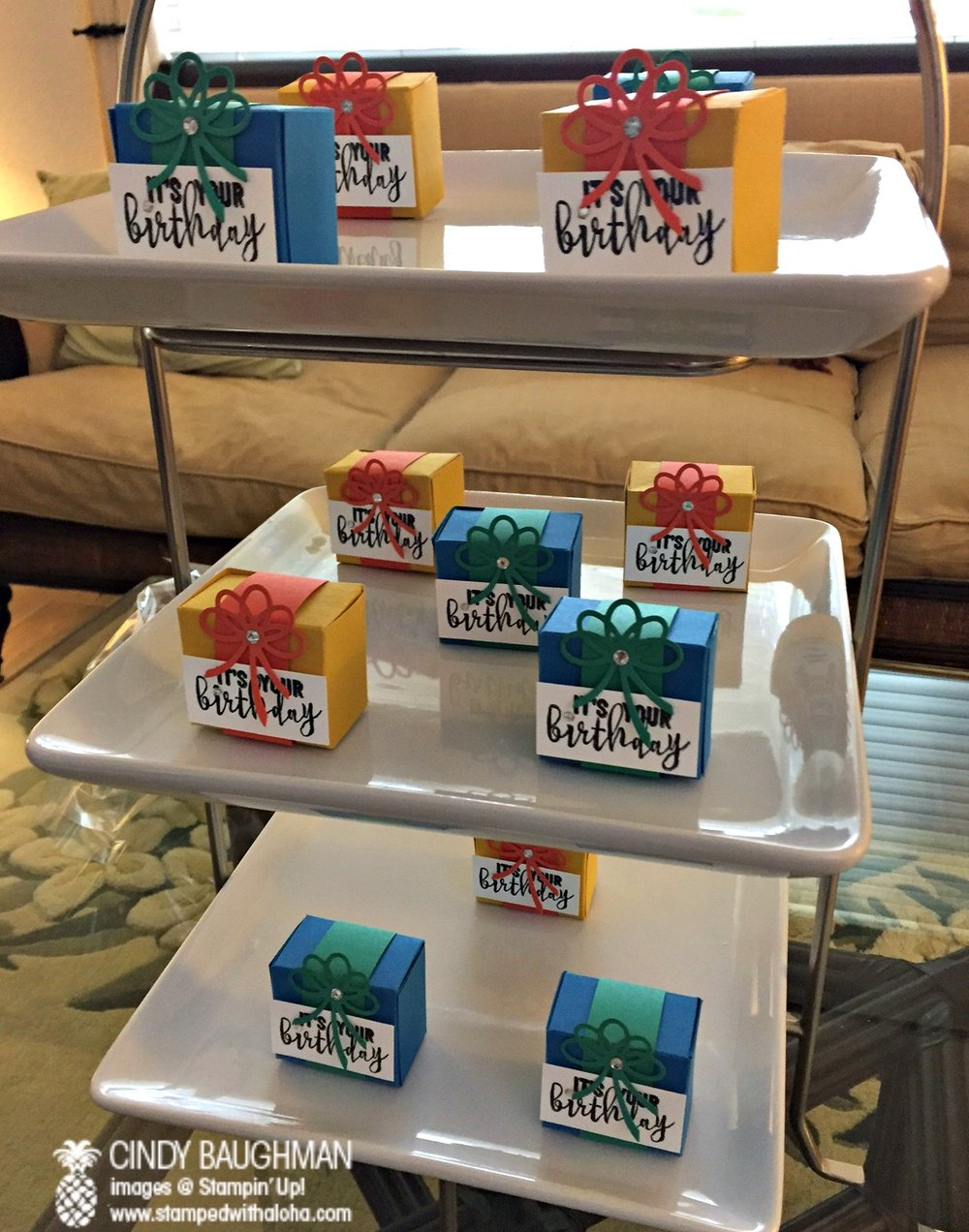 Birthday Box Display - www.stampedwithaloha.com