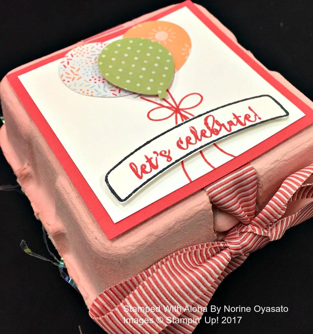 Norine's Egg Carton Prize - www.stampedwithaloha.com