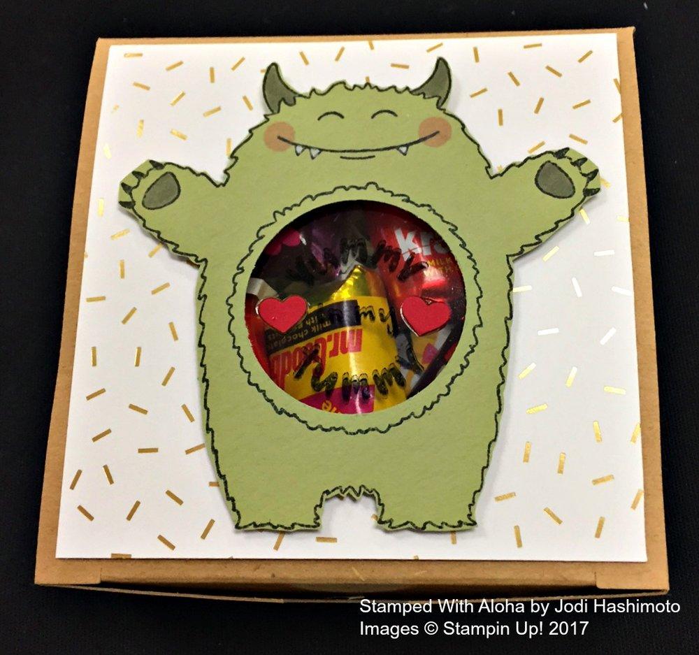 Jodi's Monster Box - www.stampedwithaloha.com