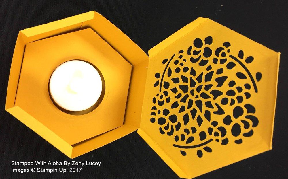 Hexagon Box - www.stampedwithaloha.com