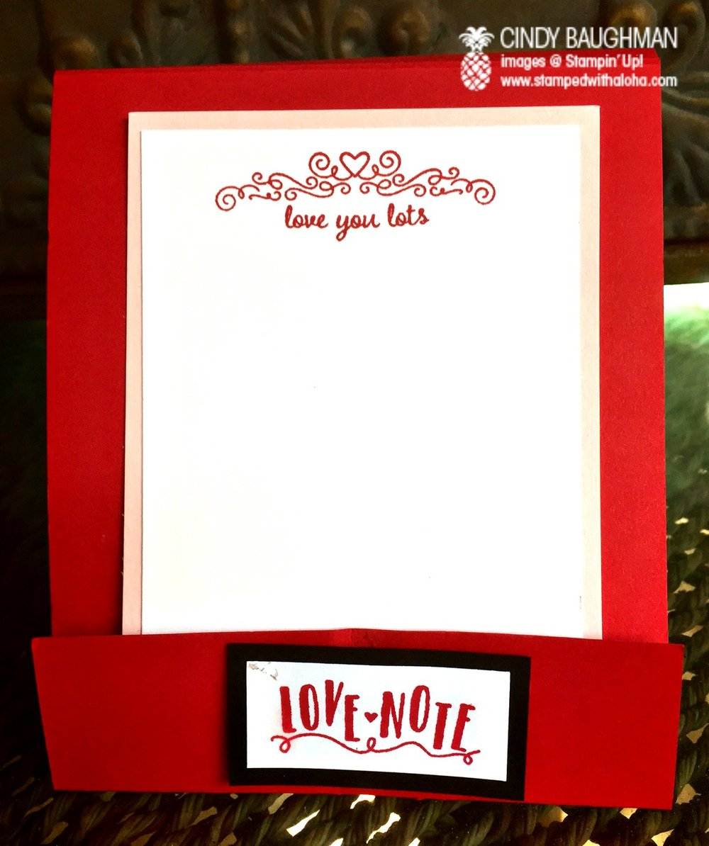 Love Note Matchbook Card - www.stampedwithaloha.com