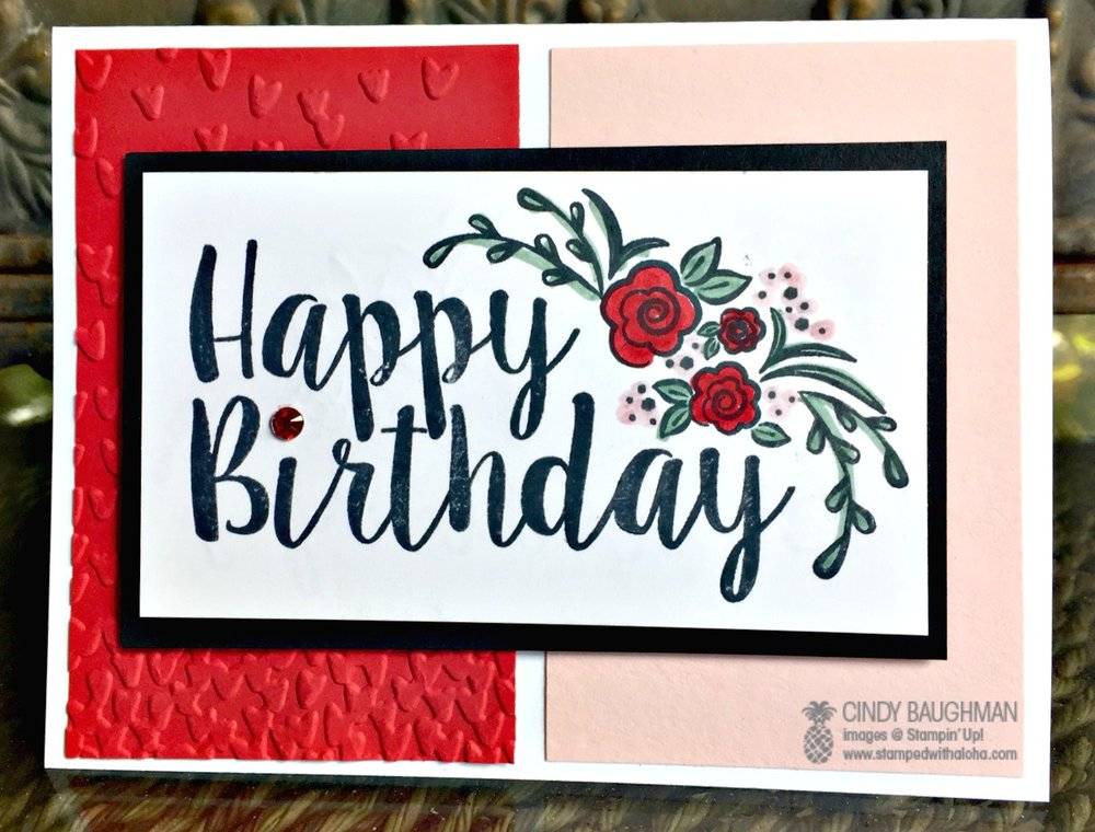 Big On Birthday's Card - www.stampedwithaloha.com