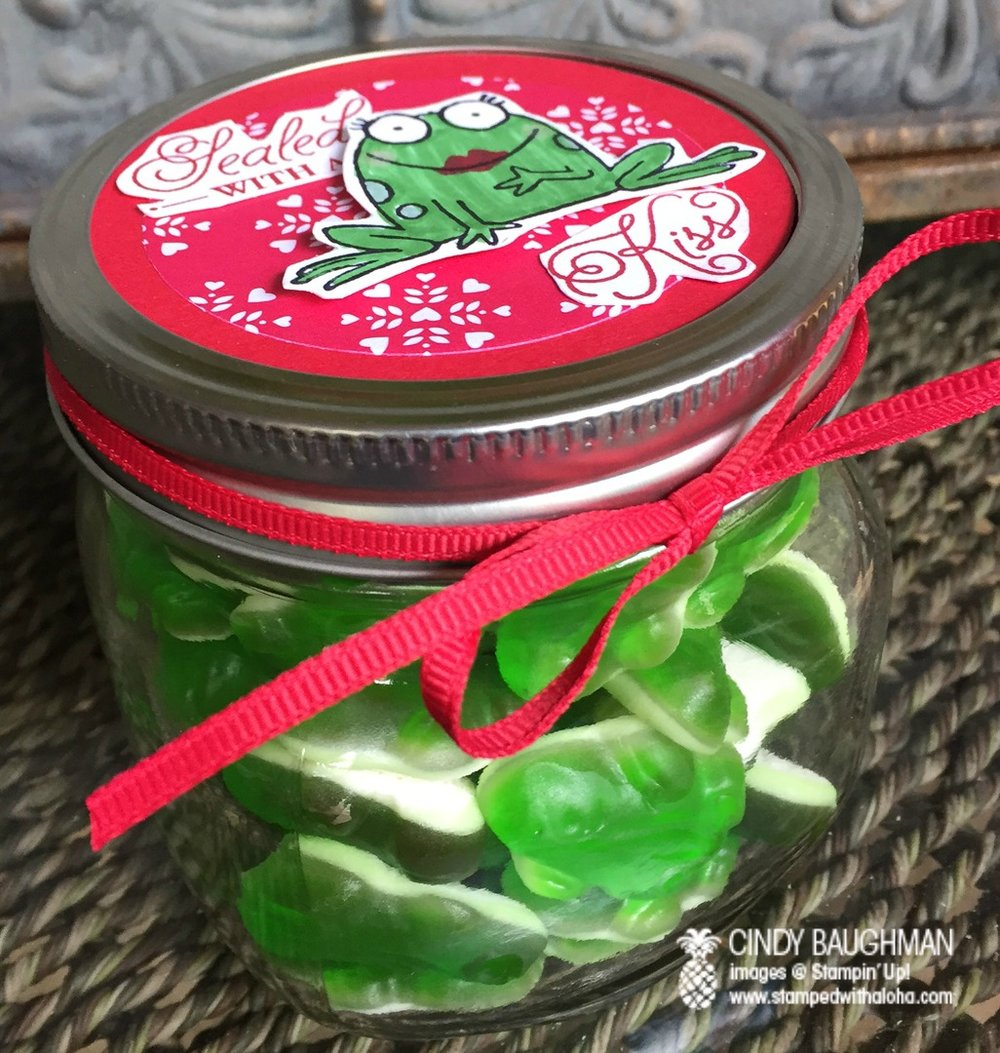Sealed With A Kiss Gummy Frogs - www.stampedwithaloha.com