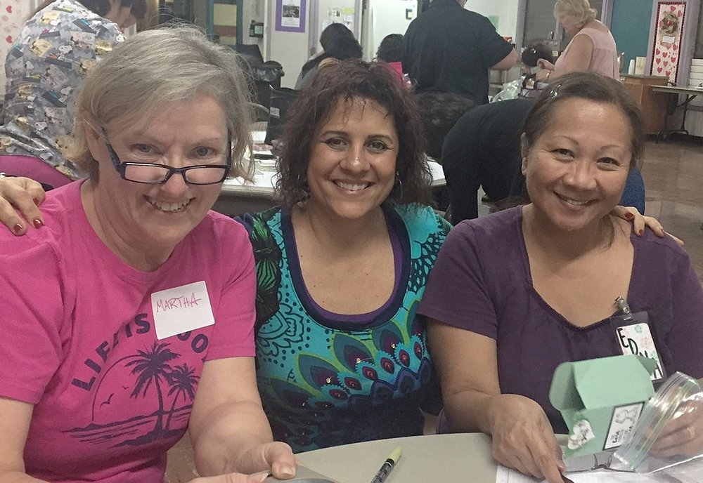 Martha, Cindy and Edna at Stamped With Aloha Inspiration Night - www.stampedwithaloha.com