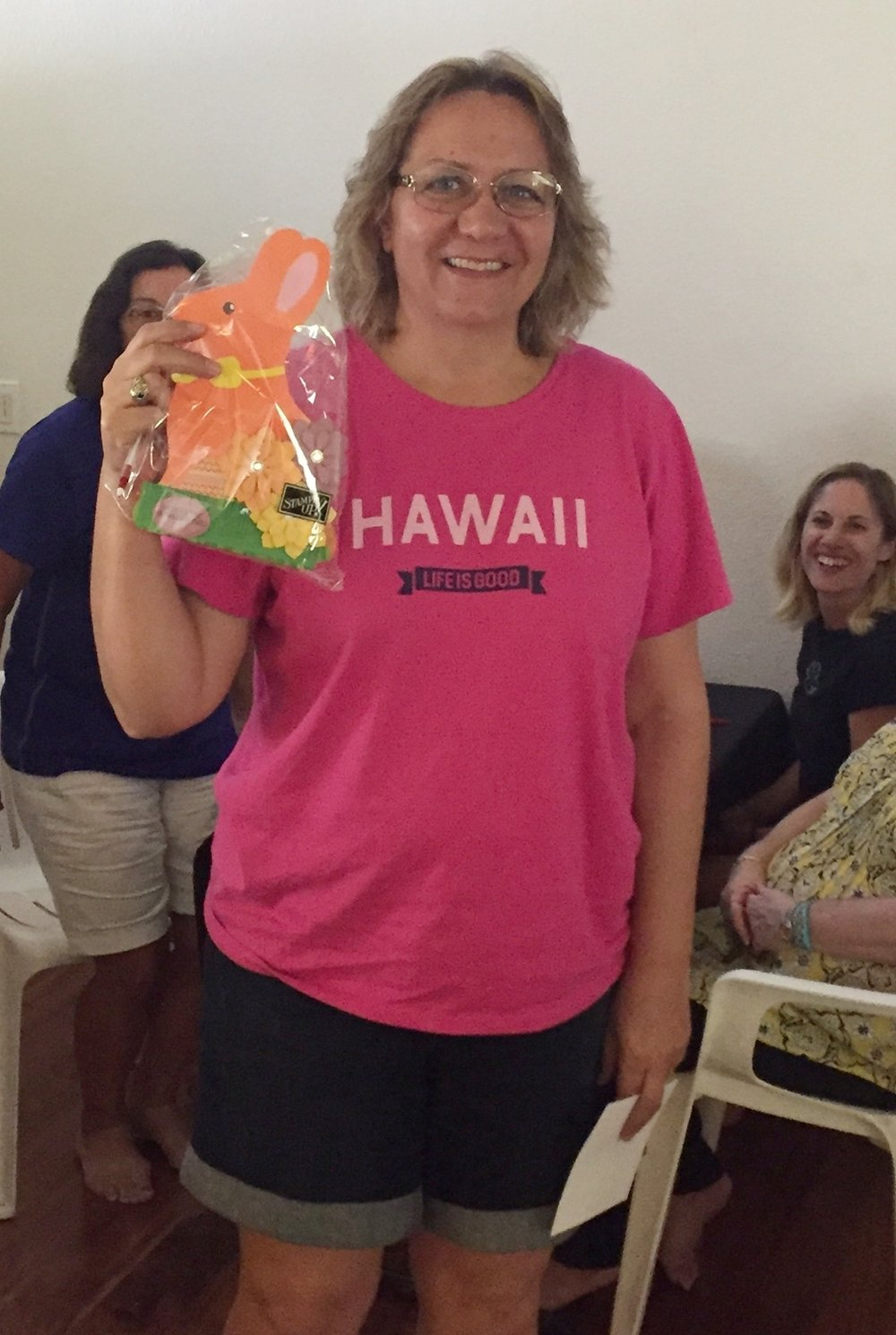 Shelly Wins the Aloha Prize -www.stampedwithaloha.com