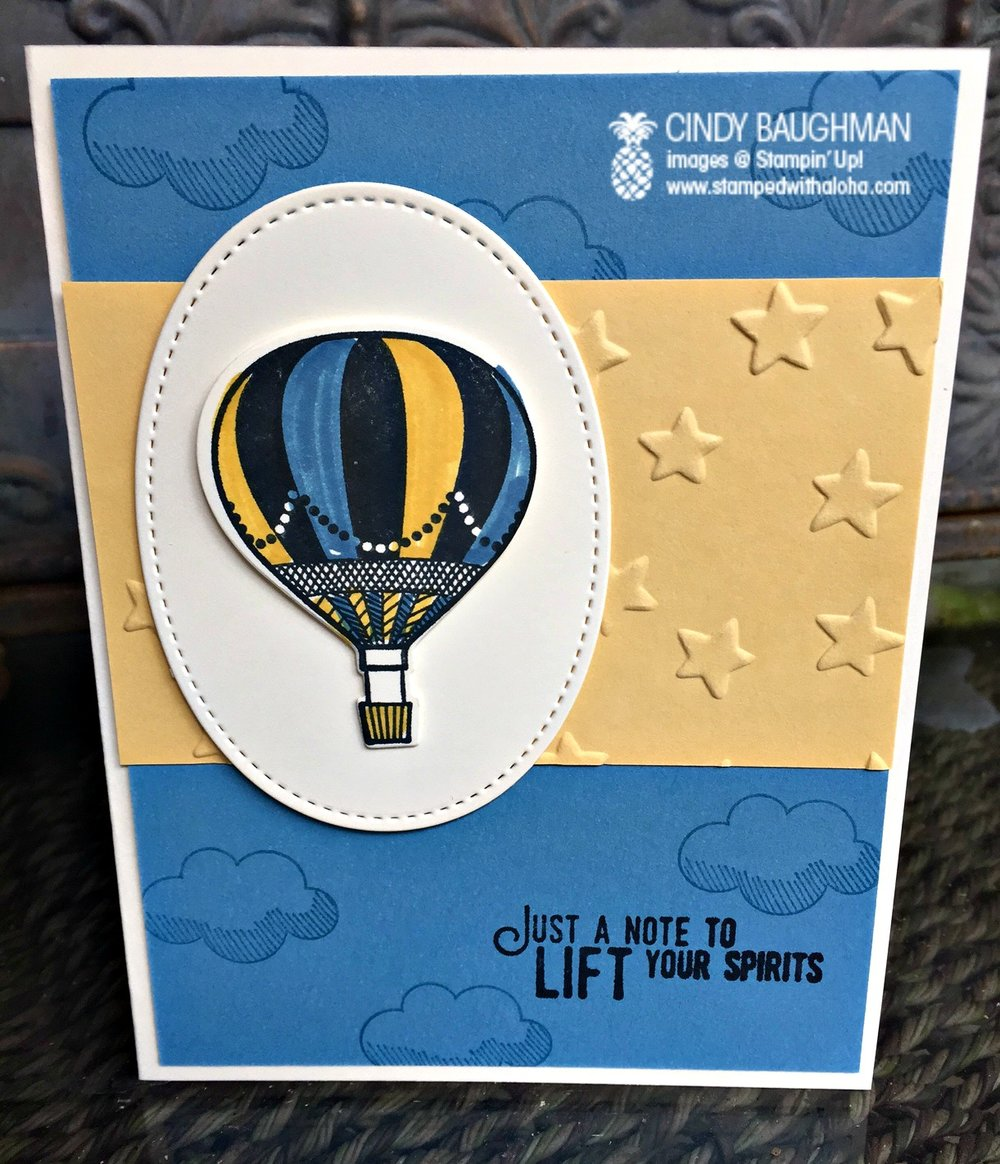 Balloon Adventures Encouragement Card - www.stampedwithaloha.com