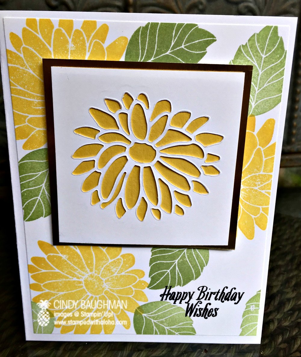 Special Reason Birthday Card - www. stampedwithaloha.com