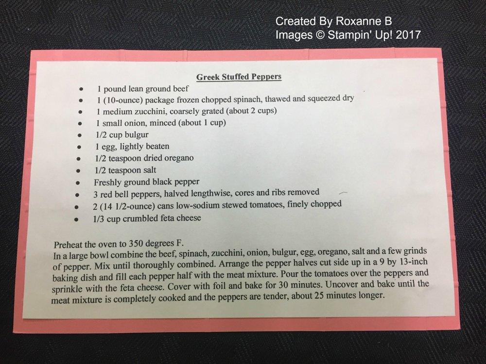 Roxanne's Recipe Swap (back) - www.stampedwithaloha.com