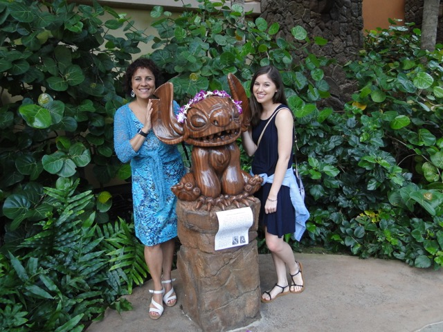 Jess and I at the Aulani Hotel