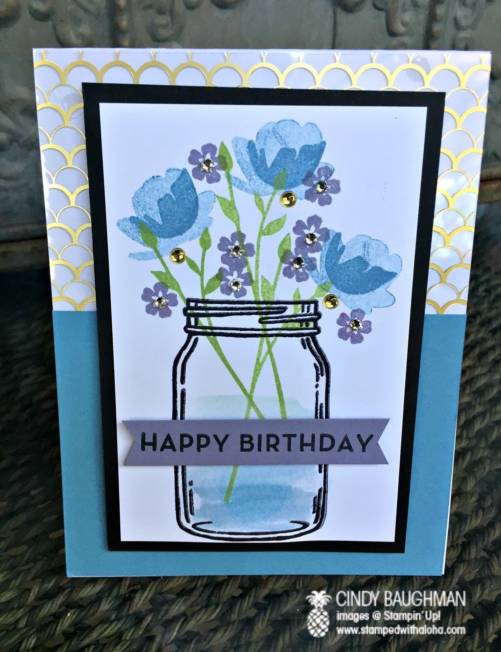 Jar of Love Birthday Card - www.stampedwithaloha.com